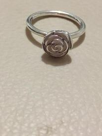 Pandora pink rose ring size 52