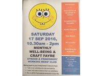 Strood & Frindsbury WMC Well-being & Craft Fayre. FREE ENTRY PUBLIC EVENT.