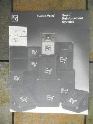 Electro-Voice (EV) 1984 Product Brochure, 14-Pages, Factory Original  - Electro Voice Headphones