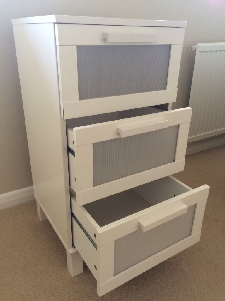Ikea Chest Of  Drawers Aneboda White Very Good Condition
