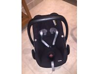 Black Maxi Cosi Pebble Car Seat