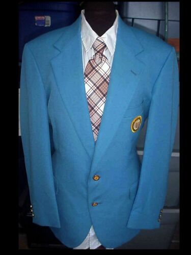 Vintage BLAZER Suit Jacket 40R Loyal Order Of The Moose Members Moose Fellowship