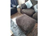 Sofa& chair an footstool