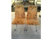 PIEFF DINING CHAIRS X 6 ORIGINAL CONDITION