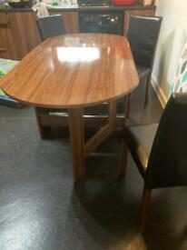 6 seater drop leaf table