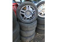 VW GOLF MK4 16 INCH ALLOY WHEELS 205/55R16