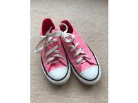 Pink converse trainers size 12.5