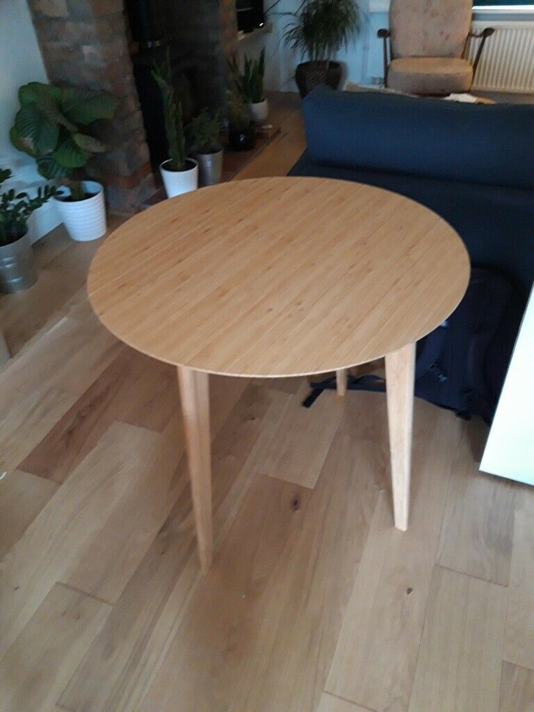 IKEA round bamboo dining table | in Redfield, Bristol ...