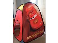 Cars play tent.