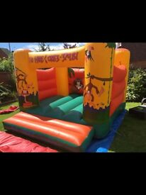 Bouncy castle for sale with jungle artwork