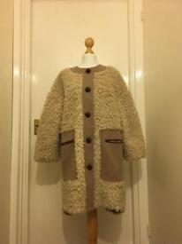Cream teddy fur coat