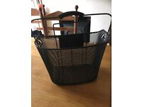 Bike shopping basket, black, with bracket £10