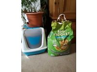 Cat litter Tray and Organic Cat Litter
