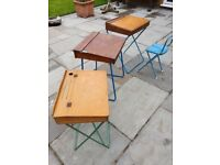 Three vintage children's desks, to sell as a group or individual