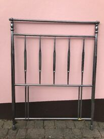 Attractive 'black chrome' single headboard. Buyer collects