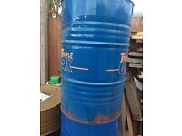 Empty oil drums