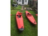 2 3ft Kayaks with oars