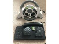Steering wheel and pedals for X Box