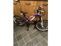 "Girls Carrera Luna 20"" wheel 7 speed bike"
