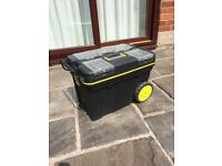 Mobile Rolling Tool Chest - Large Tool Box with wheels and extending handle