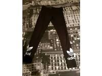 Adidas Black Leggings - Size Small (8-10)