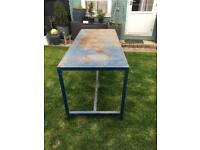 Large metal work bench