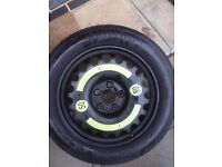 MERCEDES E CLASS W211, CLS W219 SPACE SAVER SPARE WHEEL & TYRE CONTINENTAL 155/70 R17