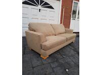 Trendy 3 seater biege sofa