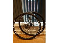 Mavic Aksium Disc Wheelset - with tyres, rotors and cassette - 'like new' condition