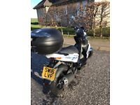 Kymco Super 8 50 Moped - includes back box, jacket, gloves and helmet.