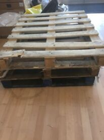 3 wooden pallets - free - pick up only