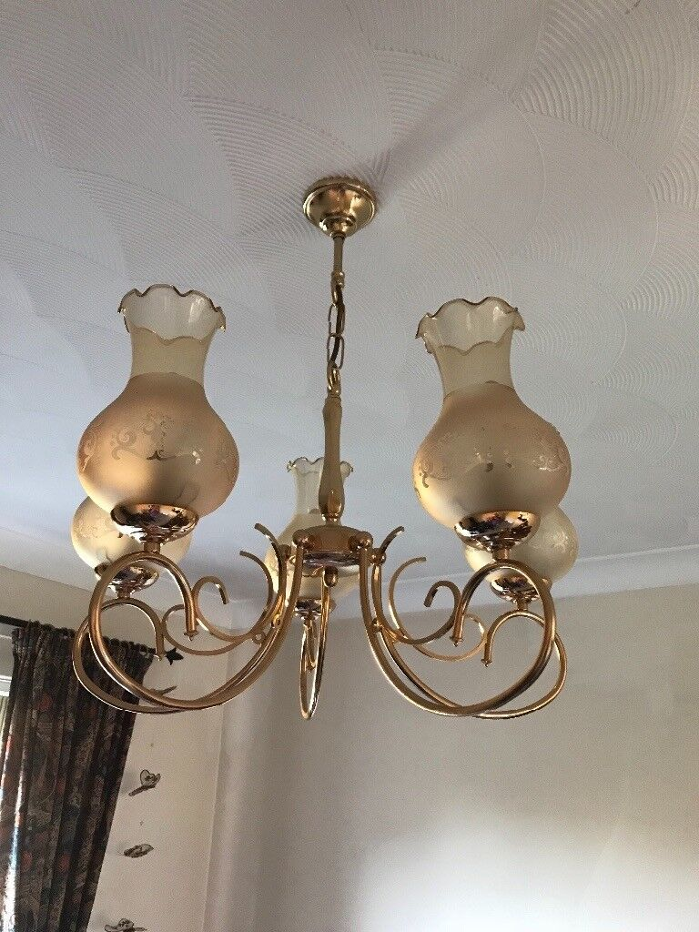 Brass Ceiling Light Fitting