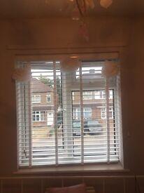 X2 White Hilary's window blinds
