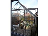 Halls aluminium 8' x 10' greenhouse