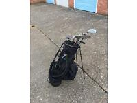 Ping golf bag with mixed clubs