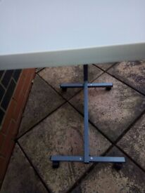 Over bed table-adjustable
