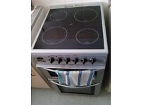 Electric Cooker in Silver with Black Hob & Seperate Grill