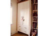 Children bed frame, wardrobe and drawer set good condition