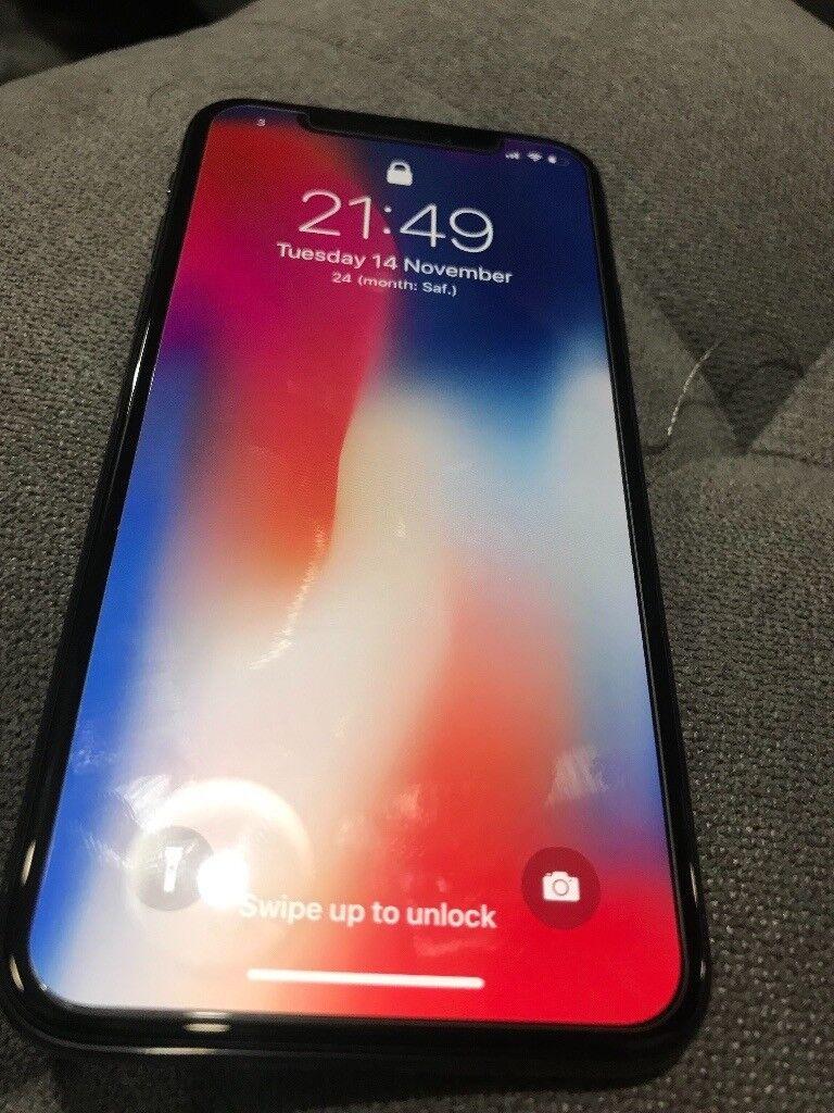 Iphone X, 64GB, space grey, unlocked.