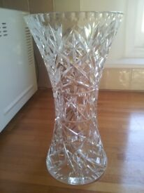 1930's cut crystal glass vase
