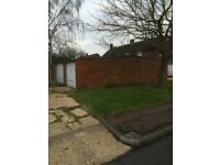 Block of six garages for sale freehold brick built in Waltham abbey essex