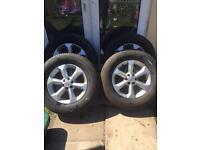 "Nissan navara d40 pick up truck Alloy Wheels 17"""