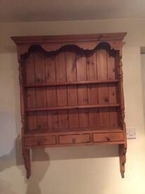 Pine dresser antique style shelves