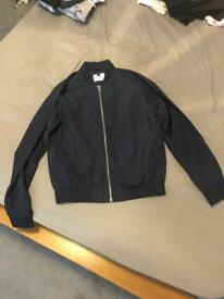 Men's navy blue topman bomber jacket,size medium,new without tags