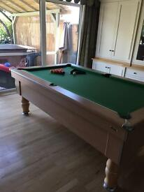 Slate bed pool table 7 x 4 very good condition
