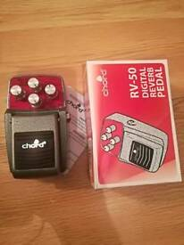 Chord RV-50 digital reverb guitar effects pedal.