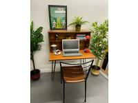 Mid Century Vintage Retro Drinks Cabinet Desk Sideboard with Hairpin Legs