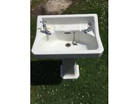 Victorian Bathroom Style Sink with Pedestal