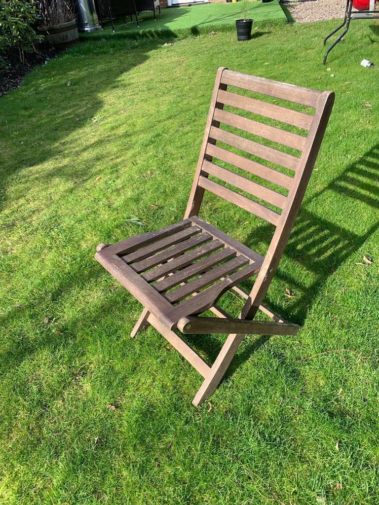 Garden chairs x4 solid teak