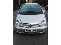 MERCEDES A160 AUTOMATIC LONG MOT PX WELCOME